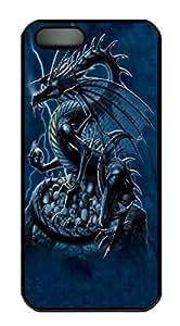 Covers Skull Dragon Custom PC Hard Case Cover for iPhone 5/5S Black