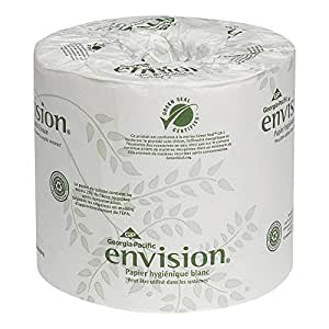 """Georgia-Pacific Envision 19885 White 2-Ply Embossed Bathroom Tissue, (WxL) 4.000"""" x 3.500"""" (Case of 80 Rolls, 550 Sheets per Roll)"""