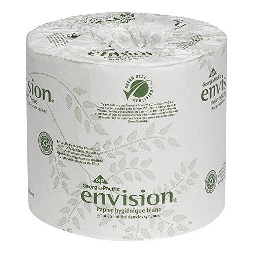 Georgia-Pacific Envision 19885 White 2-Ply Embossed Bathroom Tissue, (WxL) 4.000