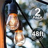 addlon 48FT Outdoor String Lights 2 Pack