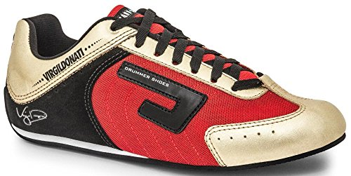 Drummer Shoes Red and Gold Size 7 Virgil Donati - Shop Fashion Rd