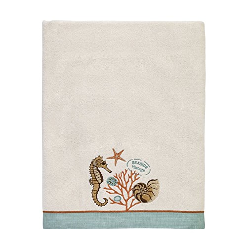 Avanti Linens 038271IVR Seaside Vintage Bath Towel, Medium, Ivory (Seaside Vintage)