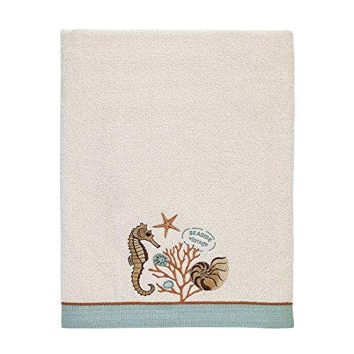 Avanti Linens 038271IVR Seaside Vintage Bath Towel, Medium, Ivory (Seaside Vintage)