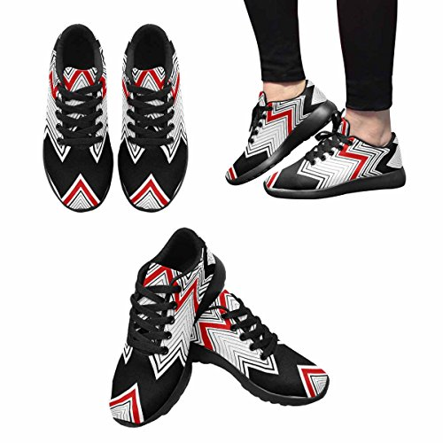 Interestprint Femmes Jogging Running Sneaker Léger Aller Facile Marche Confort Sport Chaussures De Course Multi 9