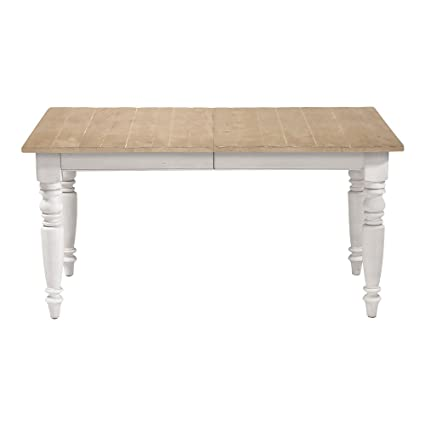 Ethan Allen Miller Rustic Farmhouse Dining Table, Small, Rough Sewn Dakota  Milk White