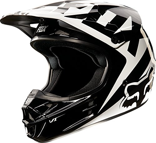 Race Helmet Small (2015 Fox Racing Race Men's V1 MotoX Motorcycle Helmet - Black / Medium)