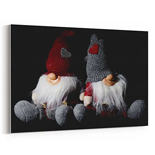 Westlake Art Christmas Person - 12x18 Canvas Print Wall Art - Canvas Stretched Gallery Wrap Modern Picture Photography Artwork - Ready to Hang 12x18 Inch (Guys And Dolls Costume Images)