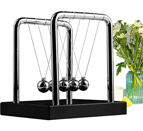 Meyall Newton's Cradle Balance Balls, Art in Motion Toys for Kids Adults, Science Physic Psychology Educational Kits (Medium ()