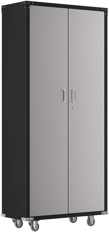 "AlightUp Upgraded 74"" Tall Steel Storage Cabinet Rolling Storage Locker with 4 Adjustable Shelves for Garage, Office, Kitchen, Laundry Room"