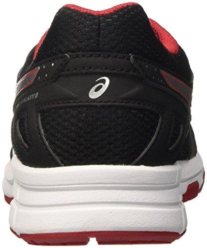 Asics Gel-Galaxy 9 Gs, Zapatillas Unisex Niños Negro (Black/Silver/True Red)