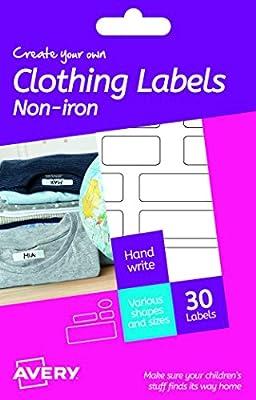 Avery España HNI01. Etiquetas adhesiva permanentes para ropa y ...