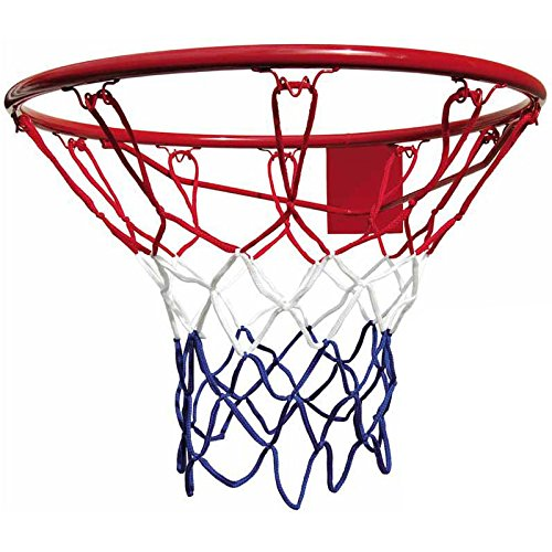 BONUS ET SALVUS TIBI (BEST)) Best - Red de baloncesto, para aro de 45 cm, color azul, blanco y rojo 64039