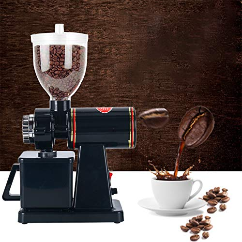 YaeMarine Professional Electric Coffee Grinder Coffee Bean Powder Grinding Machine Coffee Grinder Mill Grinder Thickness Adjustable High Quality Black