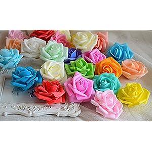 Jili Online 50x Artificial Rose flower Head Garlands Home Decor Bridal Bouquet 11 Color 25