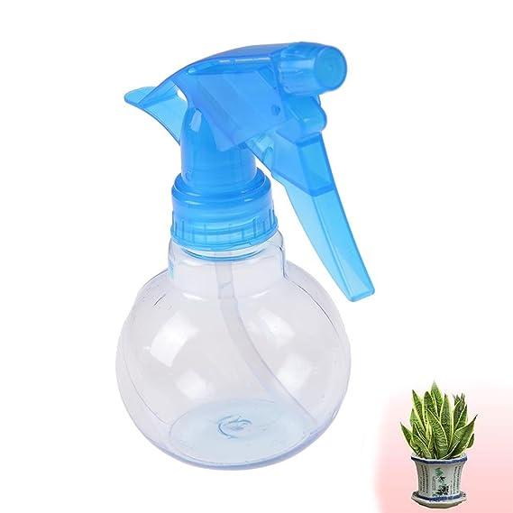 Waterstone - Botella de plástico con pulverizador y con forma esférica, con capacidad para 150 ml, de color aleatorio rosa, verde o azul para regar con agua ...