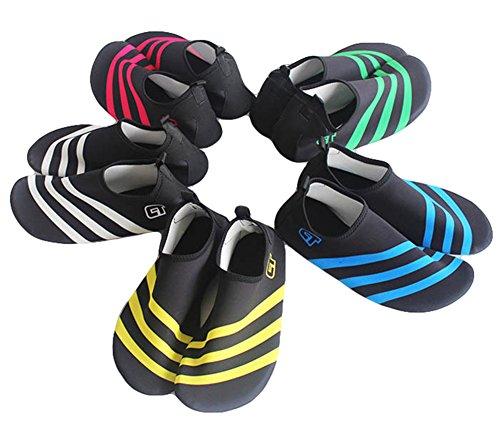 JDS Spiaggia scarpe sportive acquatici estate Fortuning's Piscina Suola di Rosso Calze traspirante scarpe da pelle Durevole surf di immersione Aqua Su Yoga sport ZxTdwq