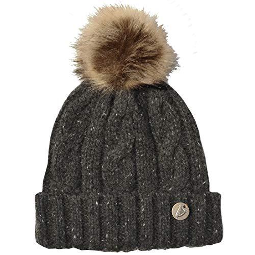 Guinness Cable Knit Bobble Hat, Charcoal Colour ()