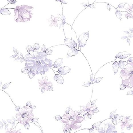 Norwall Cg28864 Purple Flowers Floral Wallpaper Amazon Com