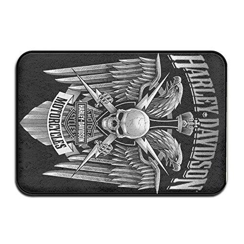 M Angel Harlley Davidson Kitchen,Bathroom Non-Slip Door Mat 23.615.7 Inch - Harley Davidson Bathroom Rugs
