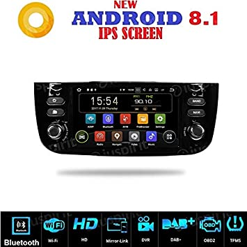 Android 7.1 GPS USB SD Wifi Bluetooth Radio 2 Din navegador Fiat Punto Evo Fiat Linea 2012, 2013, 2014, 2015