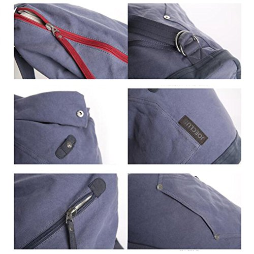 Capacity Bucket Hobo Gray Canvas Shoulder gray Bag Double Travel Bag New Large Bag Nclon Men Canvas Bag xYnPwUS1qC