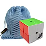 GoodPlay Cyclone Boys MuGua 2x2x2 Speed Cube Stickerless 50mm 3D Intelligence Smooth Brain Teaser Twist Puzzle Stickerless + One Customized Cube Bag