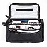 G.U.S Travel Media Pouch - Cord, Cable, and Cell Phone or Tablet Storage Pouch. Multiple Colors Available - Midnight Black