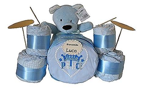 Batería de pañales azul - regalo original para bebé niño ...