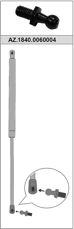 Ref AZ.1840.0060004 Cabezal para Muelle Neum/ático