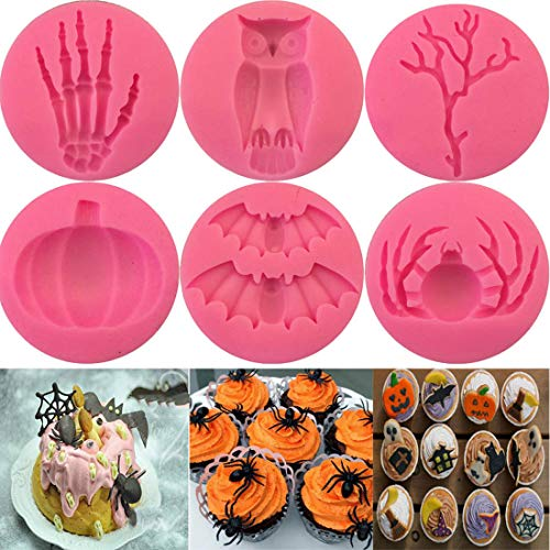 Top Sale 1Pcs Halloween Shape Silicone Cake Molds, Bakeware Decorating,Diy Soap Molds -