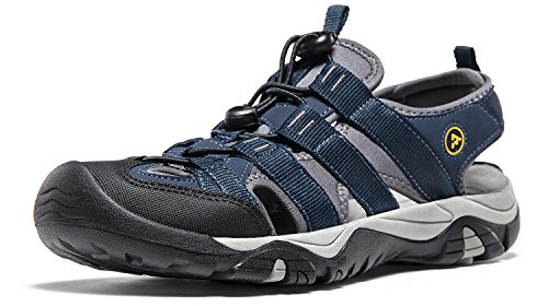 AT-M107-NVY_Men 10 D(M) Atika Men's Sports Sandals Trail Outdoor Water Shoes M107 Orbital