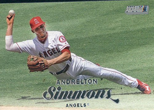 2017 Topps Stadium Club #240 Andrelton Simmons Los Angeles Angels Baseball Card