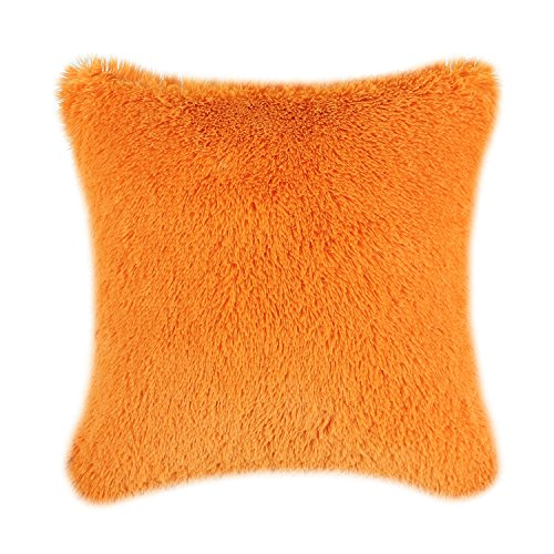 CaliTime Super Soft Throw Pillow Case Cover Plush Faux Fur 1