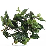 Factory Direct Craft Set of 2 Small Artificial Ivy Bushes for Home Decor, and Displaying