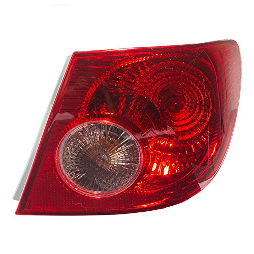 CarPartsDepot, Passenger Right Side Rear Tail Brake Light Signal Lamp RH, TY50066B1R TO2801154 (Rear Combination Lights Tail Lamps)