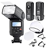 Neewer Professional Speedlite E-TTL *High-Speed Sync* Flash Kit for CANON Rebel T4i T3i T3 XS T2i T1i Xsi Xti, EOS 650D 600D 1100D 1000D 550D 500D 450D 400D 5D Mark III 5D Mark II 7D 60D 50D 40D 30D DSLR Cameras, Includes: Neewer NW680/TT680 Pro E-TTL Auto-Focus Flash + 2.4GHz 3-IN-1 Wireless Trigger + 2 Cables(C1-Cord + C3-Cord Cables) + Hard & Soft Flash Diffuser + Lens Cap Holder
