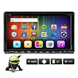 7 inch Android 5.1 Quad Core Double Din In Dash Radio Car DVD Audio Video Player Stereo with Bluetooth Wifi GPS Navigation System Mirror Link