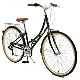 Critical Cycles Beaumont-7 Seven Speed Lady's Urban City Commuter Bike; 44cm, Olive, 44cm/Medium