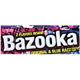 Bazooka Original and Blue Razz Bubble Gum, 10 Count (Pack of 12)