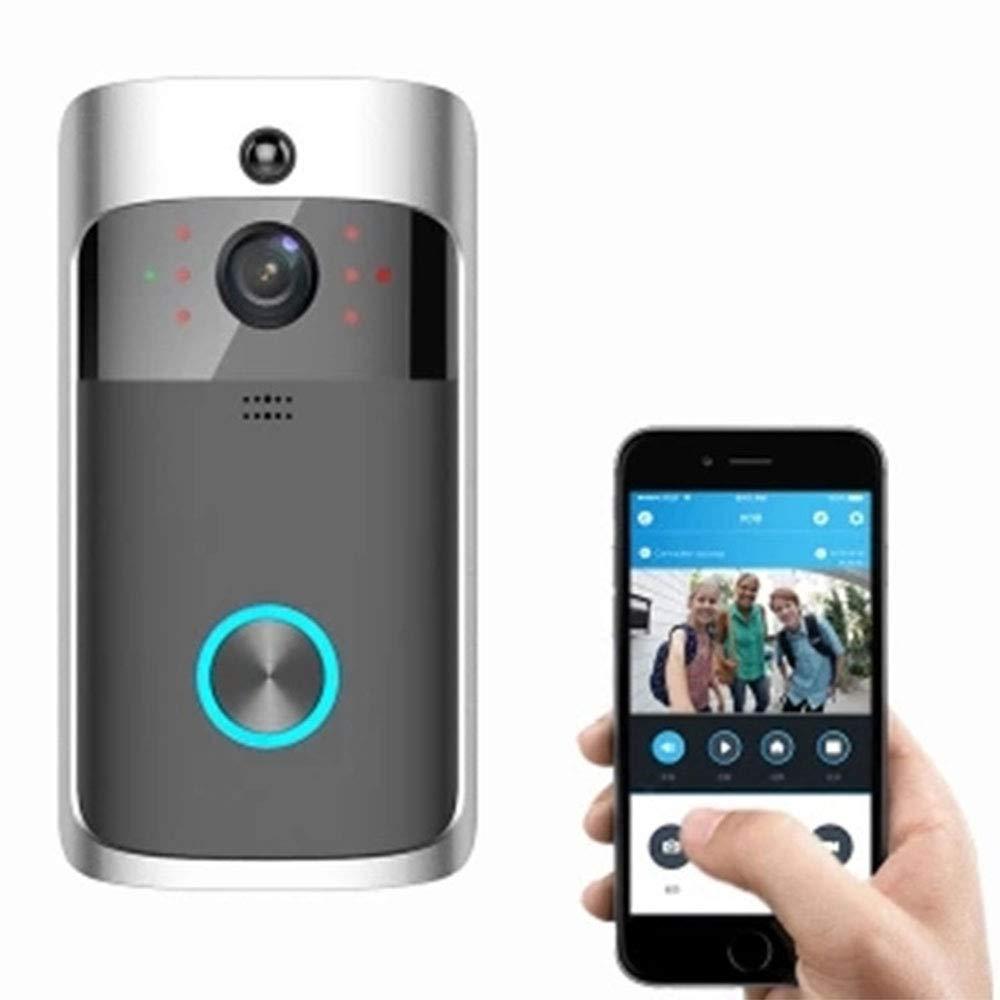 WMIAO Intelligente Video-Türklingel, HD-Kamera-Türklingel Unterstützt Die Echtzeit-PIR-Bewegungserkennung Von Ios Und Android In Beide Richtungen Und Die Infrarot-Nachtsichtanwendung