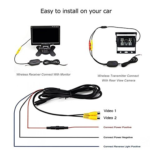 camecho rc 12v 24v car backup camera rear view wireless ir night vision backup camera waterproof