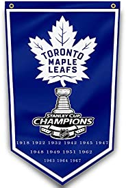 Toronto Maple Leafs Flag 3x5Ft /13-Time NHL Championship Grommets Indoor House Banner 3'x5' Stanley Cu