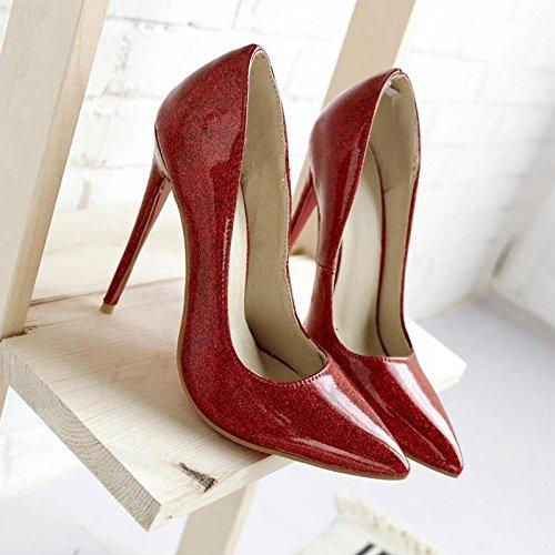 JIANXIN Die Frauentürme Sind Super Super Super High Heels Mit Flachen Einzelnen Schuhen Und Sexy Stilettos Im Frühling Und Sommer. (Farbe   rot größe   EU 36 US 5.5 UK 3.5 JP 23cm) 64bb13