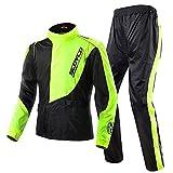 Scoyco RC01 Motorcycle Rain Coat Pants Set Sports Waterproof Jacket Suit Men (XL)