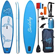 Shridinlay Inflatable Stand Up Paddle Board Surfing SUP Boards, 6 Inches Thick ISUP Boards with Backpack,Adjus