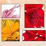 Alapaste 6 Pcs Glitter Poinsettia Artificial