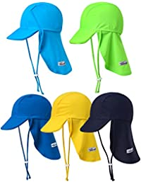 Infant & Kids Boys Sun Protection Sporty Flap Swim Hat UV...