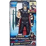 Boneco Eletrônico Thor Ragnarok Hasbro Preto/Vermelho 30cm