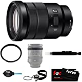 Sony SELP18105G E PZ 18-105mm F4 G OSS Mid-Range Zoom Lens with Tiffen 72mm UV Protector Filter and Accessories