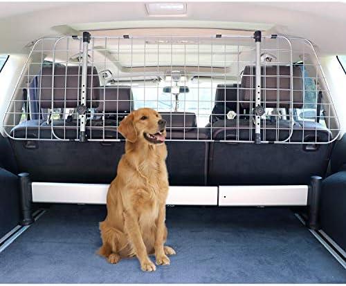 Amazon Basics Adjustable Dog Car Barrier – 16-Inch, Silver